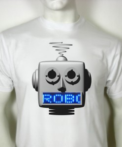 led roboter t-shirt