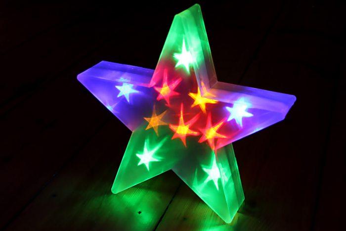 beleuchteter led stern weihnachtsstern beleuchtet. Black Bedroom Furniture Sets. Home Design Ideas