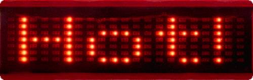 led-display laufschrift rot