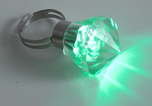 ringe led ring fingerring leuchtet in blau und rot led. Black Bedroom Furniture Sets. Home Design Ideas