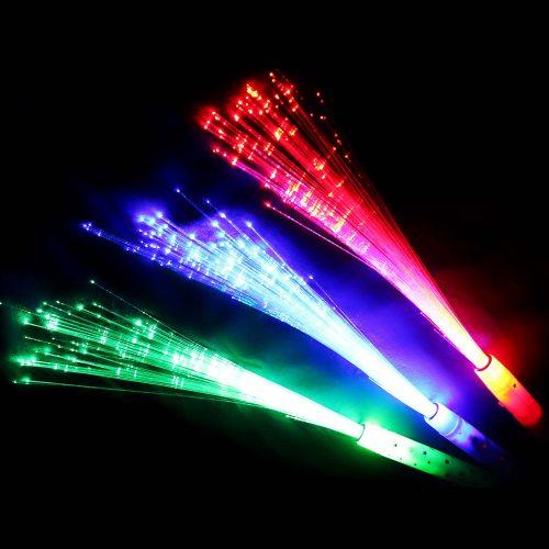 Led Weihnachtsbeleuchtung Günstig.Multicolor Party Glasfaser Leuchtstab