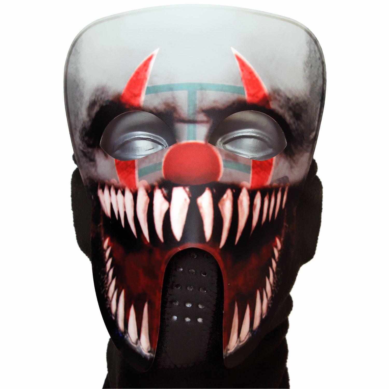 gruselige led horror clown maske halloween masken g nstig online bestellen. Black Bedroom Furniture Sets. Home Design Ideas
