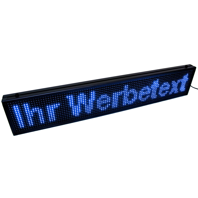 led laufschrift display mit blauen leds 99 x12cm gro. Black Bedroom Furniture Sets. Home Design Ideas