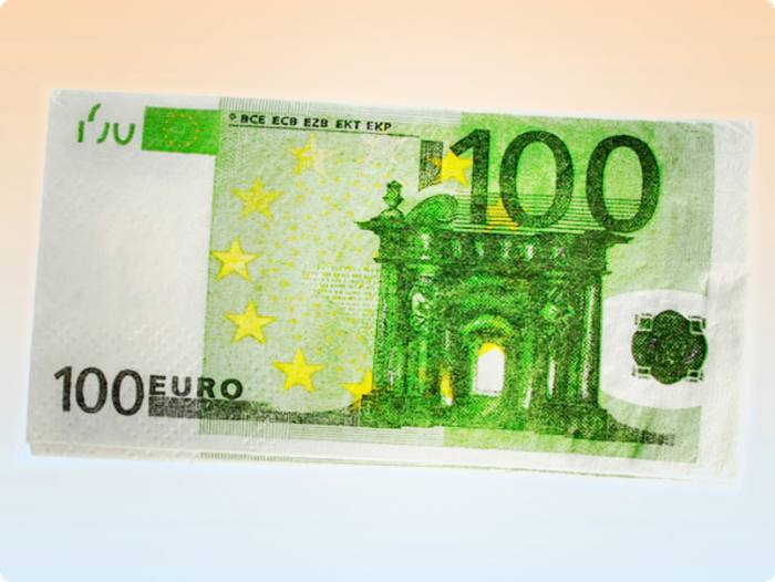 100 euro schein taschent cher. Black Bedroom Furniture Sets. Home Design Ideas