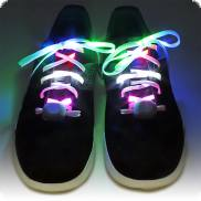 Colorful flashing and glowing LED shoelaces