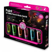 PaintGlow UV-Glitter-Set