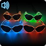 Soundsensitive LED-Herzbrille