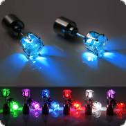 LED Diamant-Ohrstecker leuchtende Ohrringe LED-Fashion