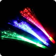 Multicolor party fiber optic light stick