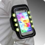 LED cell phone case with key compartment