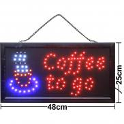 LED sign Coffee to go