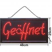 LED sign open red