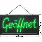 LED sign open green