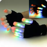 1 Paar LED-Handschuhe Multicolor