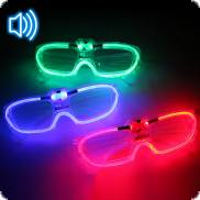 Party LED-Brille mit Soundsensor