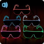 Soundsensitive LED-Sonnenbrille Pilotenbrille