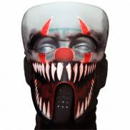 Halloween Masken: Gruselige Horror Maske / LED Horror Clown