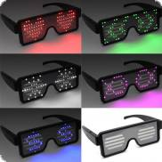 Luminous glasses without cable rechargeable with graphics & text Display