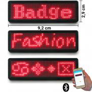 LED name tag Scrolling Bluetooth & USB programmable red