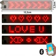 LED Ticker Red 1.5 cm x 10 cm Small Bluetooth & Battery operated