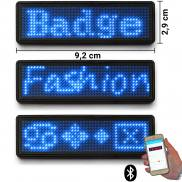 LED name tag Scrolling Bluetooth & USB programmable blue