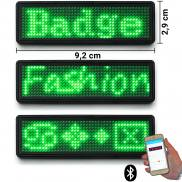 LED name tag Scrolling Bluetooth & USB programmable green