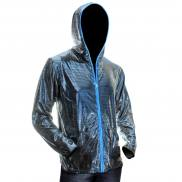 Ucult Silver LED jacket I hooded jacket I hoodie with blue lighting